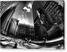 Chicago's Picasso With A Fisheye View Acrylic Print