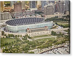 Chicago's Soldier Field Aerial Acrylic Print by Adam Romanowicz