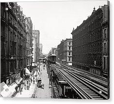 Chicago's Wabash Avenue  1900 Acrylic Print by Daniel Hagerman