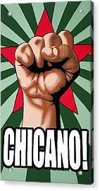 Chicano Acrylic Print by Roberto Valdes Sanchez