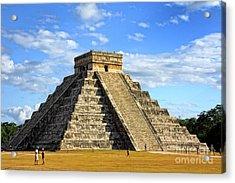 Chichen Itza Pyramid Acrylic Print by Charline Xia
