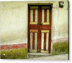 Chichi Door Acrylic Print by Derek Selander