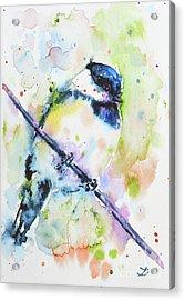 Acrylic Print featuring the painting Chick-a-dee-dee-dee by Zaira Dzhaubaeva