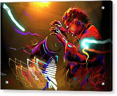 Acrylic Print featuring the painting Chick Corea by DC Langer