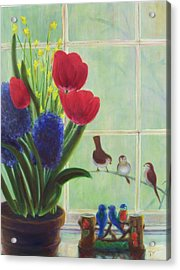 Chick Flick Acrylic Print by Dana Redfern