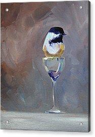 Chickadee Wine Acrylic Print by Nancy Merkle