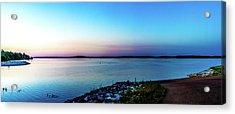 Chickasaw Landing Panorama Acrylic Print by Barry Jones