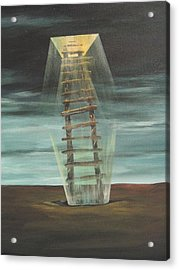 Chickasaw's Ladder Acrylic Print by K Hoover