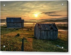 Acrylic Print featuring the photograph Chicken Creek Schoolhouse by Fiskr Larsen