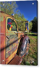 Acrylic Print featuring the photograph Chicken Driver by Edward Fielding