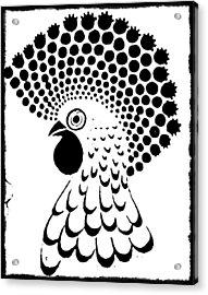 Chicken Tattoo  Acrylic Print by Paulo Zerbato
