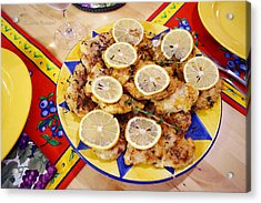 Chicken With Lemon Acrylic Print