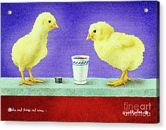 Chicks And Cheep Red Wine.. Acrylic Print by Will Bullas