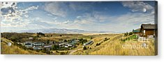 Chico Hot Springs Pray Montana Panoramic Acrylic Print by Dustin K Ryan