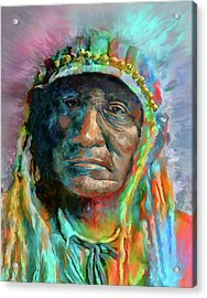 Chief 2 Acrylic Print by Rick Mosher