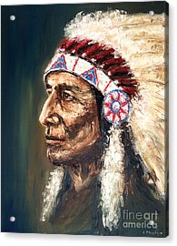Chief Acrylic Print by Arturas Slapsys
