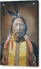 Chief Buckskin Charley Acrylic Print by Jerry McElroy