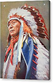 Chief Hollow Horn Bear Acrylic Print by American School