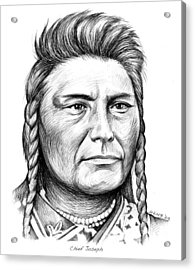 Chief Joseph Acrylic Print by Greg Joens