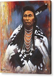 Acrylic Print featuring the painting Chief Joseph by Harvie Brown