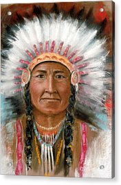 Chief Joseph Acrylic Print by John De Young