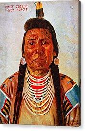 Chief Joseph, Nez Perc� Chief Acrylic Print by Everett