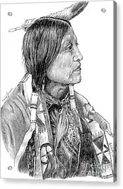 Chief Joseph Of Nes Perce Acrylic Print