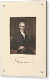 Chief Justice John Marshall Acrylic Print by Asher Brown Durand