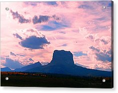 Chief Mountain, Pastel Acrylic Print