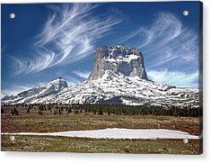 Chief Mountain Acrylic Print by Rod Jones