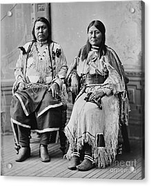 Chief Ouray And Wife Chipeta Acrylic Print by Pg Reproductions