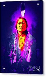 Chief Sitting Bull 20160103 Acrylic Print by Wingsdomain Art and Photography