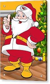 Chiefs Santa Claus Acrylic Print by Joe Hamilton