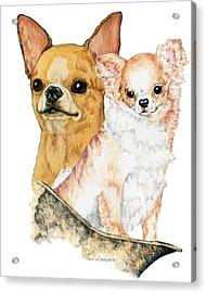 Chihuahuas Acrylic Print by Kathleen Sepulveda