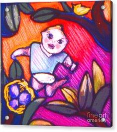 Child Gazing Acrylic Print by Angelina Marino