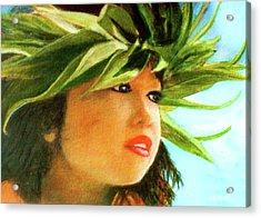 Child Keiki In Hawaiian No# 84 Acrylic Print by Donald k Hall