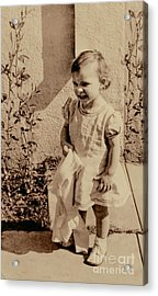 Acrylic Print featuring the photograph Child Of 1940s by Linda Phelps