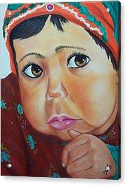 Child Of Afghanistan Acrylic Print by Joni McPherson