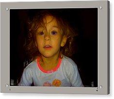 Child Of Mine Acrylic Print by Maribel McIntosh
