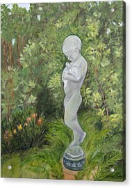 Child Of Peace As In Brookgreen Gardens Acrylic Print by Shirley Lawing
