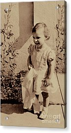 Acrylic Print featuring the photograph Child Of  The 1940s by Linda Phelps