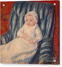 Child On A Sofa Acrylic Print by Mary Cassatt