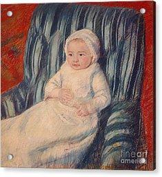 Child On A Sofa Acrylic Print by Mary Cassatt