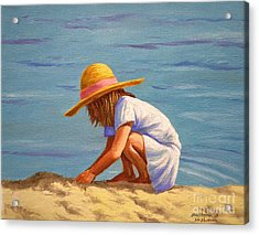 Child Playing In The Sand Acrylic Print