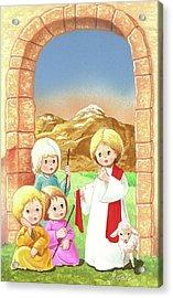 Child Shepherds Acrylic Print
