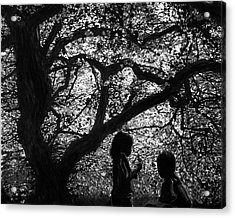 Child Silhouettes Acrylic Print
