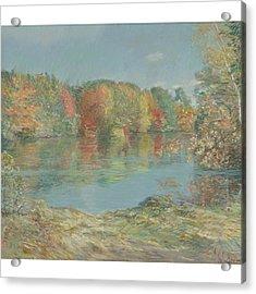 Childe Hassam 1859-1935 Walden Pond Acrylic Print