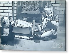 Acrylic Print featuring the photograph Childhood Memories by Linda Phelps