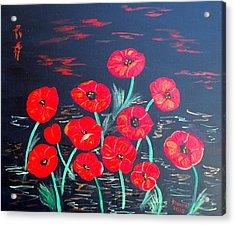 Childlike Poppies Acrylic Print by Alanna Hug-McAnnally