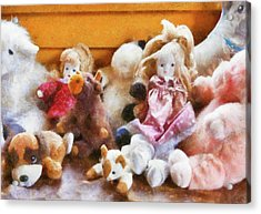 Children - Toys - Childhood Toys  Acrylic Print by Mike Savad